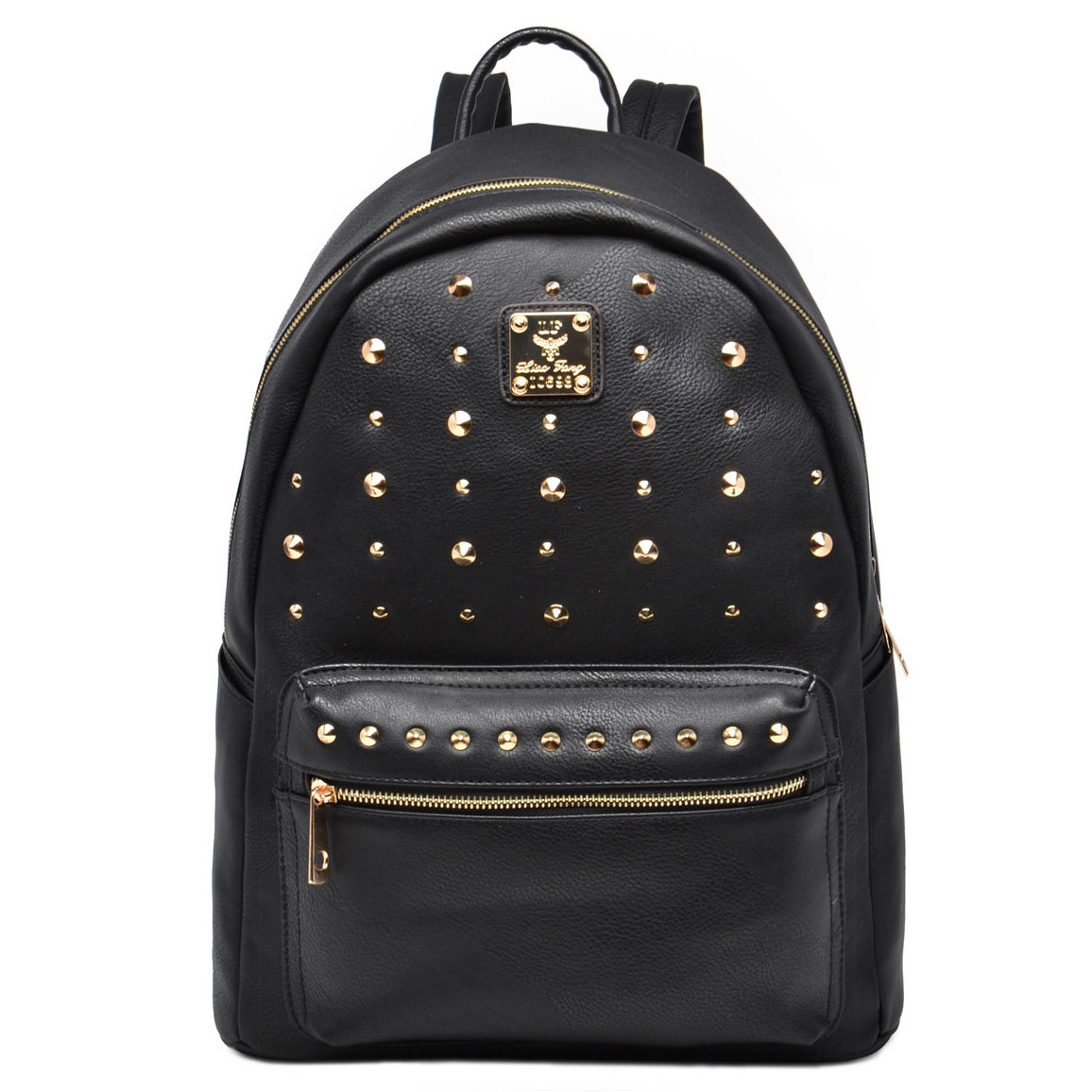 MKF Collection Valo Fashionable Studded Backpack - Black - Check ... 09313f11df9f2