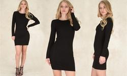 Lyss Loo Women's Comeback Baby Bodycon Dress - Black - Size: Small
