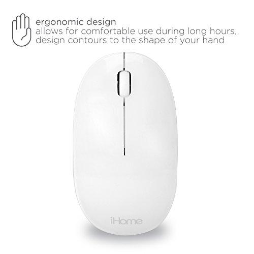 e673e9c931d ... iHome Bluetooth Laser 1600dpi Mouse for Mac, White (IMAC-M110W) ...