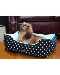 Polka Dots Couch Bed: Large- Black