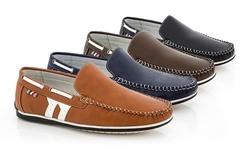 Franco Vanucci Men's Boat Shoes: Black/11
