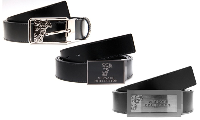 351bfb32 Versace Collection Men's Leather Belts - Brown - Check Back Soon