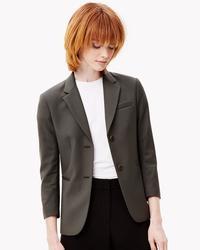 Theory Women's Linworth Wool Jacket - Green - Size: 8