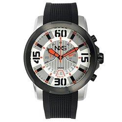 NXS Geiger Swiss Chronograph Men's Watch 22 mm Silicone Strap - Black