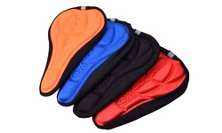 Extreme Fit 3D Comfort Saddle Cushi on Bicycle Seat Cover 2PK - Orange