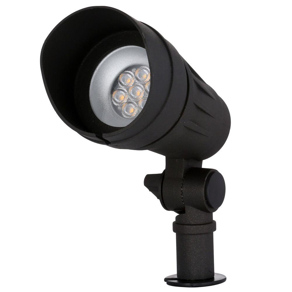 Hampton Bay Low Voltage Led Outdoor Spot Light Black