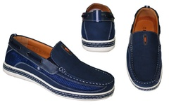 Frenchic Collections Men's Slip-On Loafers - Navy -Size: 10