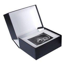 """Archival Methods Onyx 13x19"""" x 1-3/8"""" Portfolio Box -  Black/White Lining"""