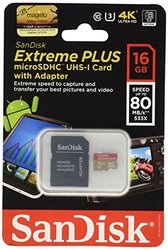 SanDisk Extreme 16GB MicroSD Extended Capacity Flash Card