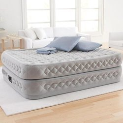 Intex Supreme Air-Flow Airbed w/ Built-in Electric Pump - Size: Queen