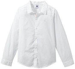 Petit Bateau Button Down Shirt (Toddler Kids) - White - Size: 6 Years