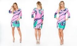 Women's Printed Summer Dresses: Pink/medium