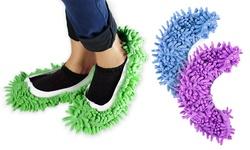 Lopkey Microfiber Washable Mop Slippers 2Pk - Purple - Size: Medium