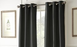 Black Out Curtains (2-Pack): Black
