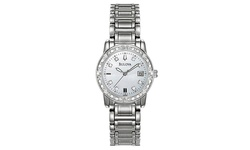 Bulova Women's Diamond Accented Watches - Silver Band/Silver Dial