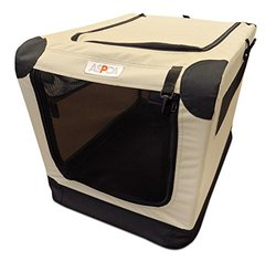 "ASPCA Indoor/Outdoor Portable Soft Pet Crate - Tan - Size: 26""x18""x17"""