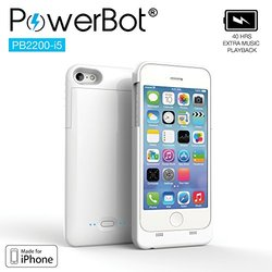 Powerbot Mfi Battery Charging Case For Iphone: 5/5s/se/white