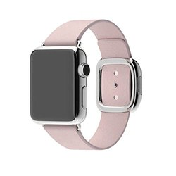 Waloo Modern Buckle Leather Wrist Band Strap for Apple Watch - Pink - 42mm