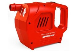 QuickPump Rechargable 120V Pump red