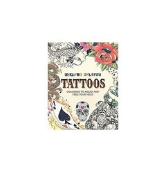 Parragon Books Tattoos Inspired Coloring Paperback - 2015