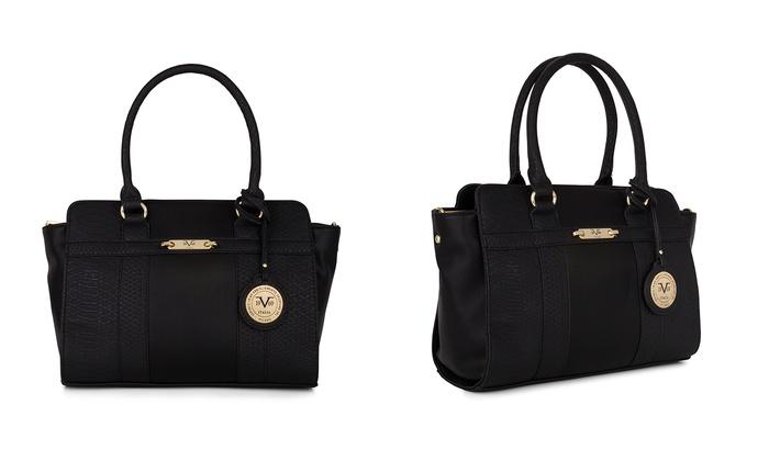Versace 19V69 Italia Willow Tote - Black - Size  One Size - Check ... 674a42c240380