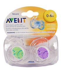 Avent Contemporary Freeflow Pacifier - Boy - 0 - 6 Months - 2 ct