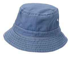 City Threads Little Boy's Solid Wharf Hat - Denim Blue - Size: Large
