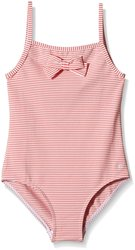 Petit Bateau Girl's Striped Seersucker Swimsuit - Pink/White - Size: 3 Yrs