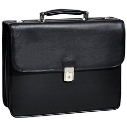 McKlein Leather Briefcases: Ashburn - Black 15145