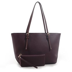 MKII Sara Tote and Matching Wallet - Burgundy