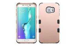 Hard PC/Silicone Case For Samsung Galaxy S6 Edge Plus - Rose Gold/Black