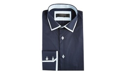 Coogi Checkered Buttondown - Light Blue/Navy - Size: Large