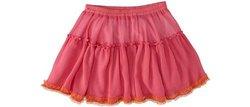 Design History Little Girl's Chiffon Overlay Skirt - Mod Pink - Size: 4T