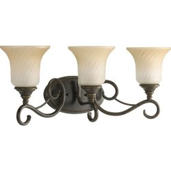 Progress Lighting P2785-77 Kensington 3-Light Forged Bronze Vanity Fixture