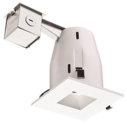 """Lithonia LK4SQMW LED LPI M6 4"""" Square Lamped LED Lighting Kit -Matte White"""