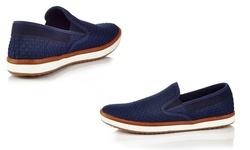 Solo Men's Warren Slip-on Sneakers - Navy - Size: 13