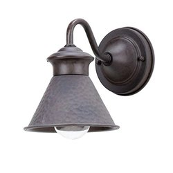 World Imports Dark Sky Essen 1-Light Bronze Outdoor Short-Arm Wall Lamp