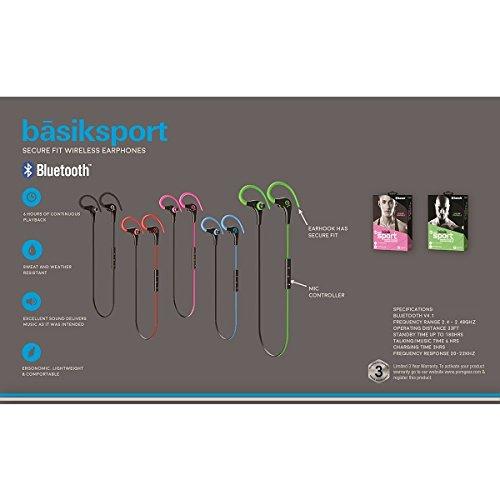26293c56316 POM Gear P2G-SP1-RBK Basik Sport Secure Fit Bluetooth Earphones Red/Black  ...
