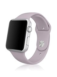 Ipm Soft Silicone Replacement Sports Band For Apple Watch: 38mm/lavender