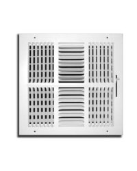 TruAire 12 in. x 12 in. 4 Way Wall/Ceiling Register (H104M 12X12)