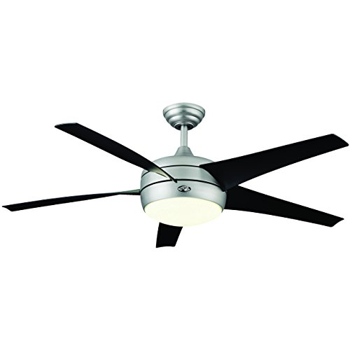Hampton bay windward ii 54 ceiling fan w light brushed steel hampton bay windward ii 54 ceiling fan w light brushed steel 55295 aloadofball Choice Image