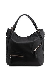MKF Collection Merrisa Double Zip Hobo w/ Removable Strap - Black
