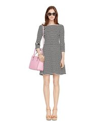 Kate Spade Stripe Dress - Black/Cream - Size: 6