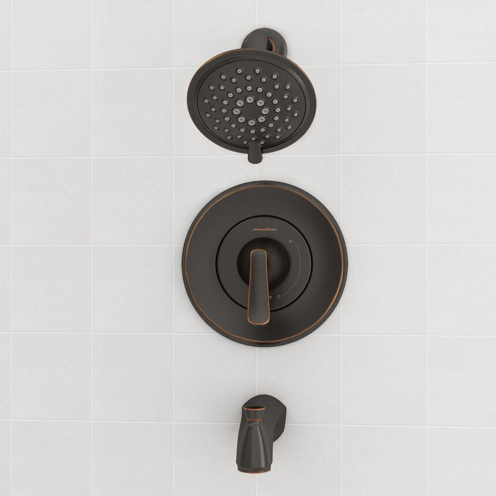 ... American Standard Chatfield 1 Handle 3 Spray Tub/Shower Faucet   Bronze  ...