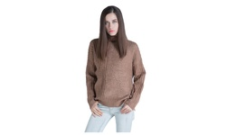 Byron Lars Women's Spring Collar Pullover Knit Sweater - Khaki - Size: 4