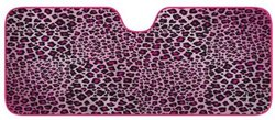 Car Window Shade: Accordian Shade/Pink Leopard - Standard
