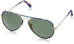 Ray-Ban Aviator Sunglasses 3025JM-172-58mm - Purple Frame - Green Lens