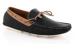 Franco Vanucci Men's Casual Driving Loafers - Black - Size: 9.5