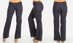 Women's Junior's Bootcut Dress Pants - Grey - Size: Medium