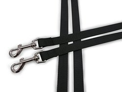 Furhaven Two Tails Walking Double Dog Pet Leash - Black